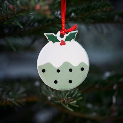 Duck Egg Christmas Pudding Decoration