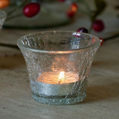 Crackle Glass Candlepot