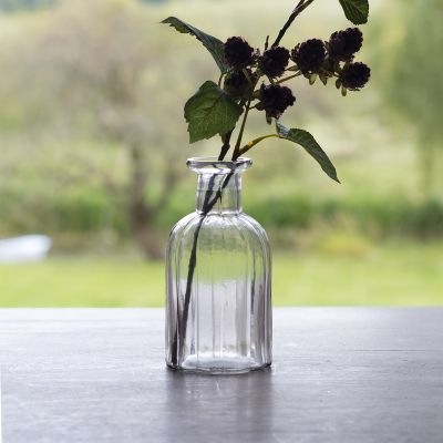 Reeded Flower Bottle - Small