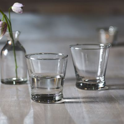 Hand-blown Clear Glass Tumbler - Seconds