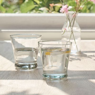 Hand-blown Clear Glass Tumbler