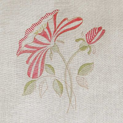 Seconds Red Rose Linen Fabric - 302 (Fabric )