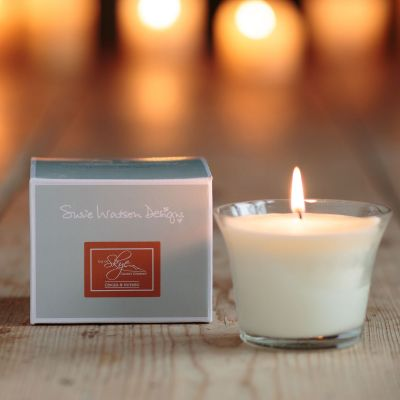 Ginger & Nutmeg Scented Glass Candle Pot