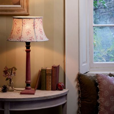 """Indian Red Moonflower 14"""" Framed Lampshade"""