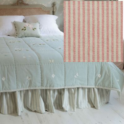 Single Valance - Rose Ivory Stripe (Fabric )