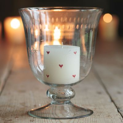 Red Heart Hand-painted Scented Pillar Candle 3""