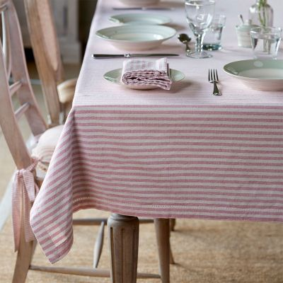 Rose Ivory Stripe Tablecloth - Large