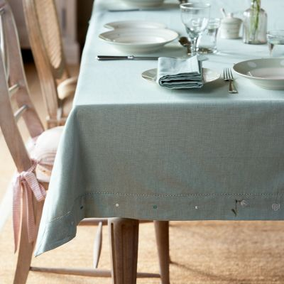 Duckegg Snowdrop Cotton Tablecloth - Large