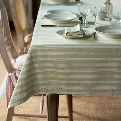 Summer Green Cambridge Stripe Tablecloth – Large