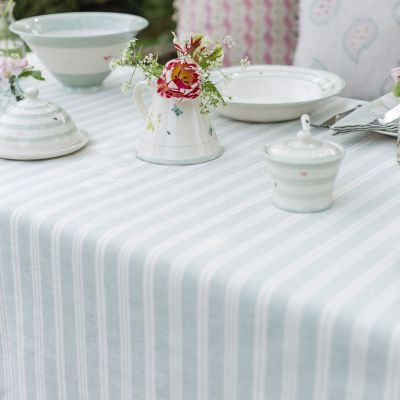Duckegg Cambridge Stripe Tablecloth - Square