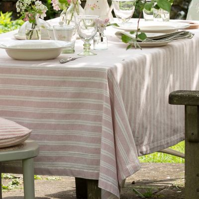 Pink Stripe Tablecloth