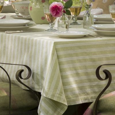 Summer Green Cambridge Stripe Tablecloth – X Small