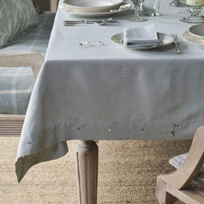 Duck Egg Snowdrop Tablecloth