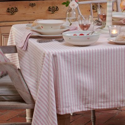 Rose Ivory Stripe Tablecloth – X Small