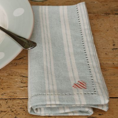 Duck Egg Cambridge Stripe Napkin (Set of 4)