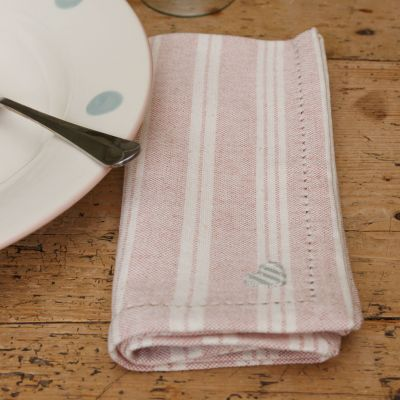 Pale Rose Cambridge Stripe Napkin (Set of 4)