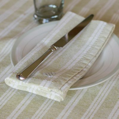 Summer Green Cambridge Stripe Napkin (Set of 4)