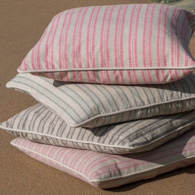 Sail Blue Ticking Stripe Cushion