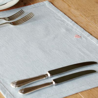 Red stripe Heart Placemats (Set of 4)