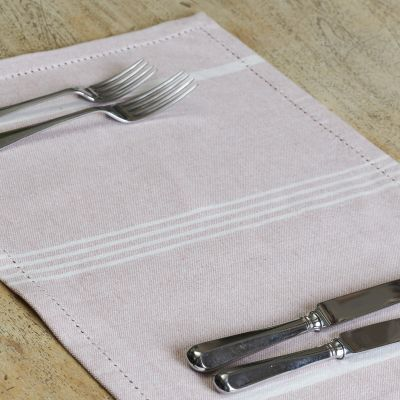 Pale Rose Oxford Stripe Placemats (set of 4)