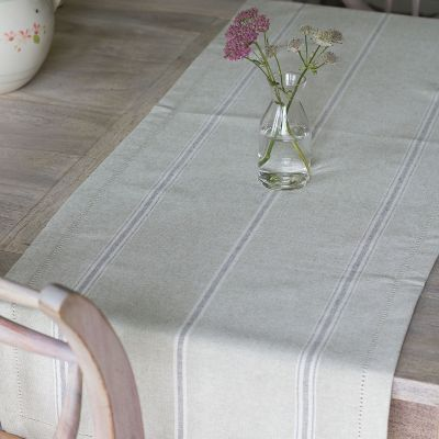 Gustavian Charcoal Table Runner