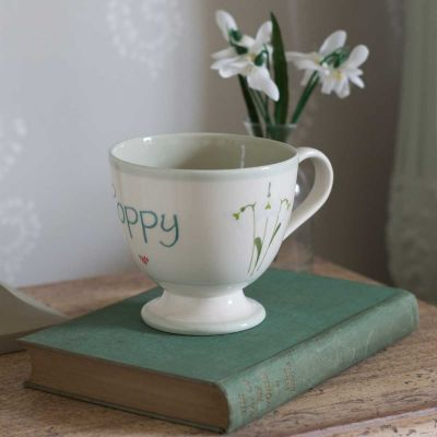 Personalised Snowdrop Large Mug