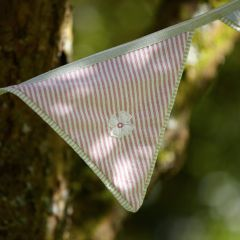 Handmade bunting for the garden in summer