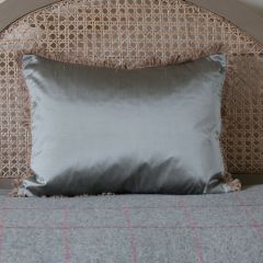 Silk Cushion - Silver Mist