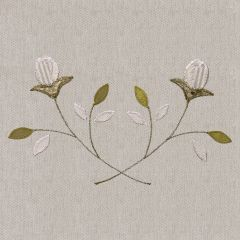 Embroidered Grey Rosebud