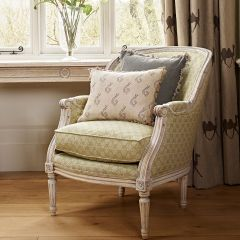 Library Chair in Green Sprig