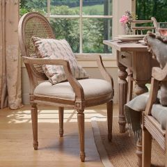 Oval Cane Back Carver Chair