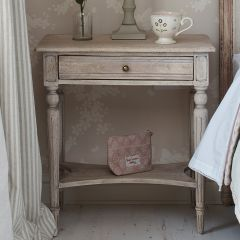 Carved Bedside Table