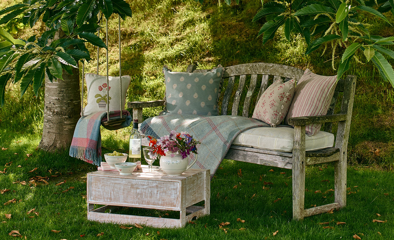 Chair and garden cushions