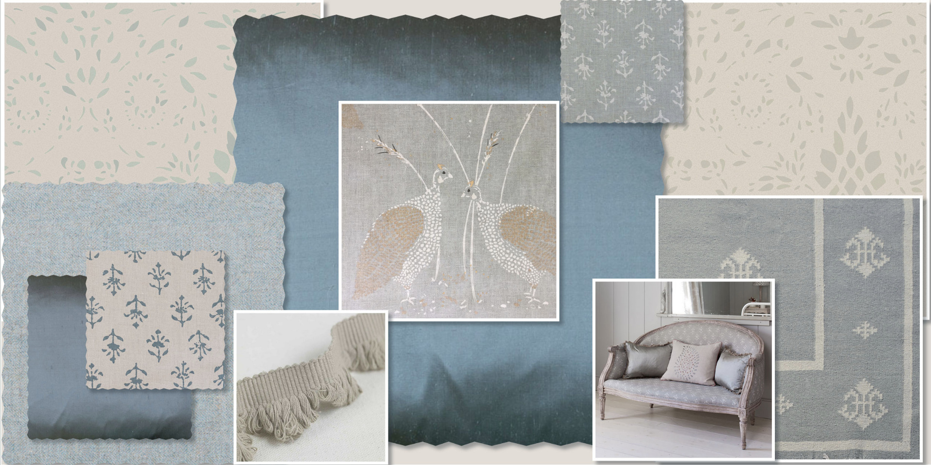 Smokey Blue Mood Board