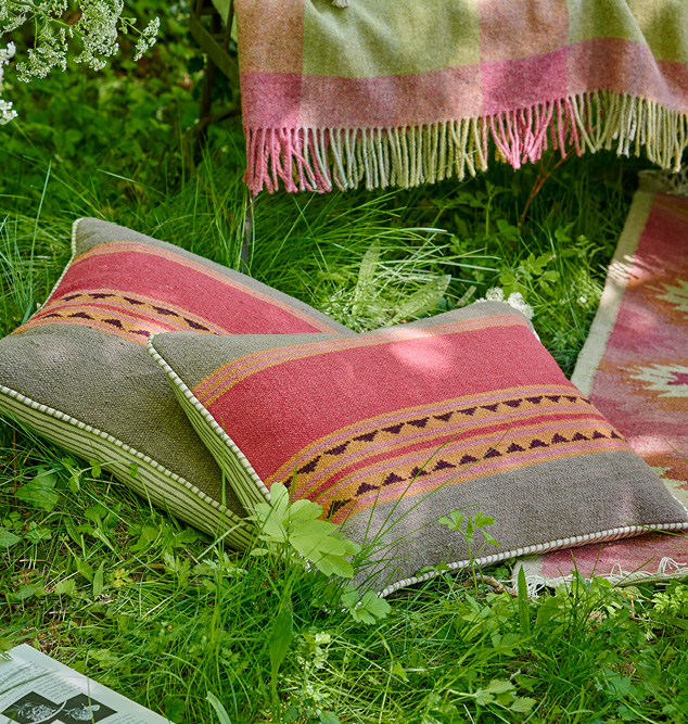 indian red Kilim cushions