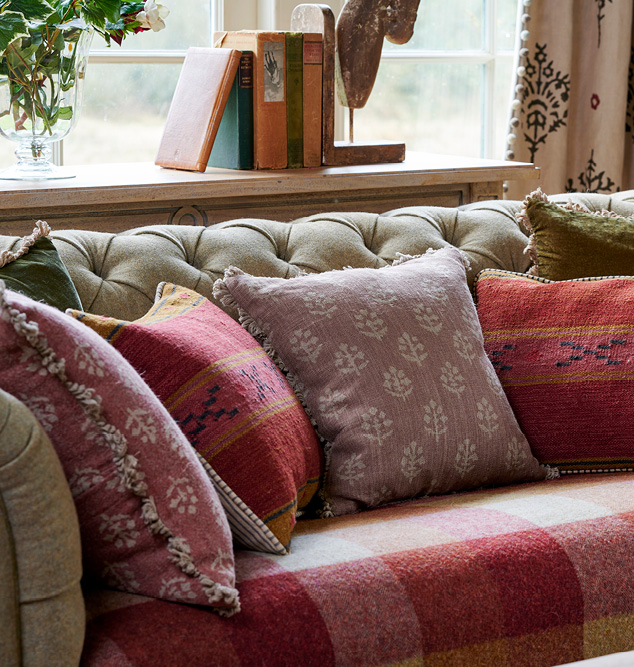 indian red cushions