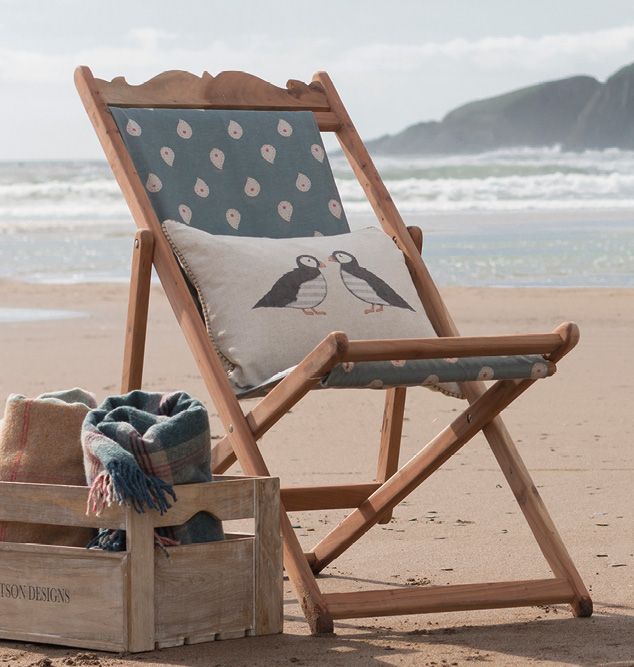 marine blue deck chair