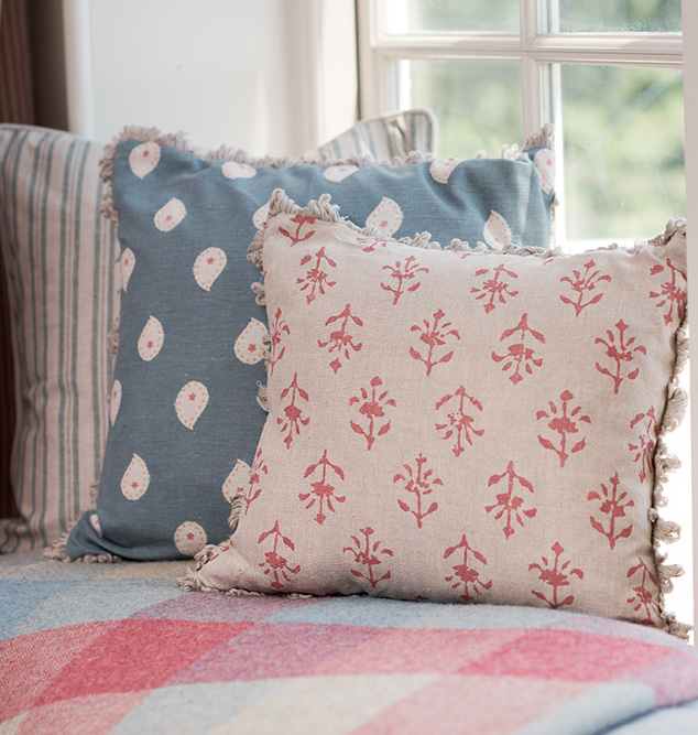 marine blue cushions