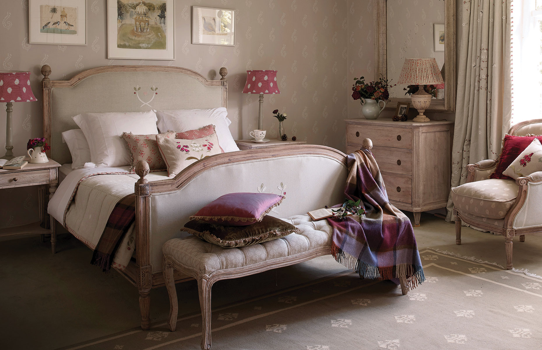 Dove Grey & Violet Bedroom